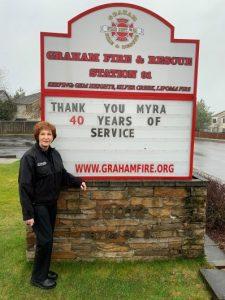 Myra Merdian Drake 40 Years of Service