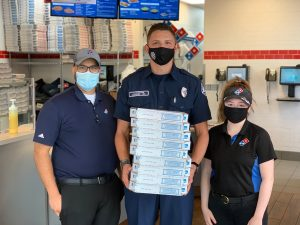 Graham Fire & Rescue Partners with Domino's